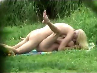 Nice czech couple fucking in public