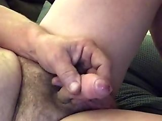 Start wanking with soft cock